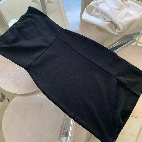 Nasty Gal Dresses & Skirts - Black front side slit  mini dress